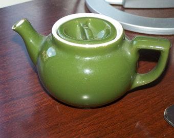Hall teapot, small teapot, green teapot, 2 cup teapot