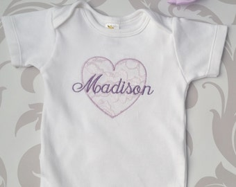 Baby Girl Coming Home Outfit Newborn Baby Girl Headband Personalized Gown or Bodysuit and Headband