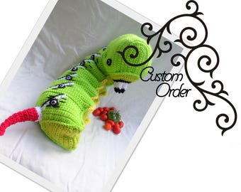Tobacco Hornworm // Custom Order // Bug // Caterpillar // Buggable // Giant Insect // Educational Tool // Bug Lover // Gardeners