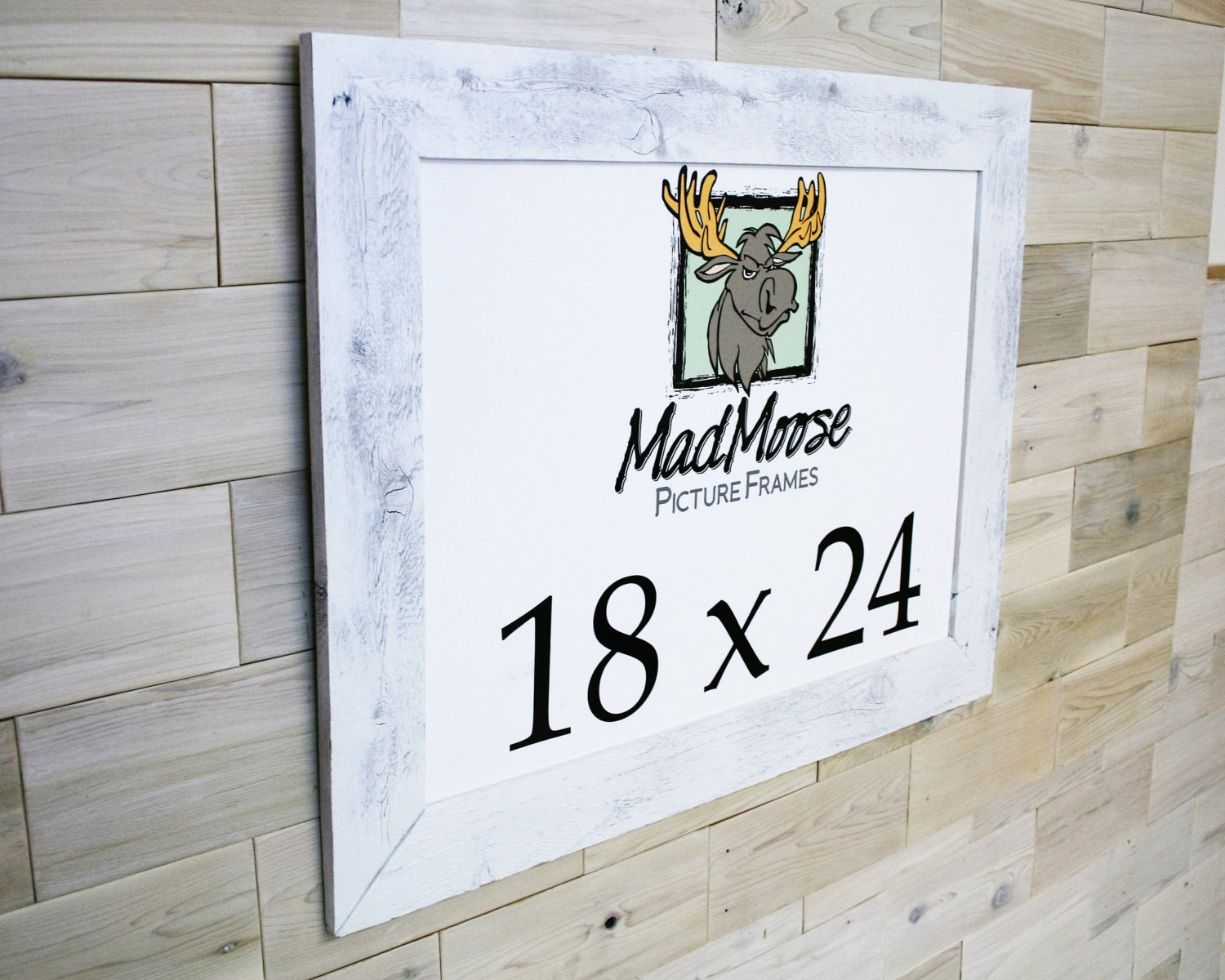 18x24 PAINTED WHITE Barn Wood [Thin x 3] Picture Frame (tags: barn ...