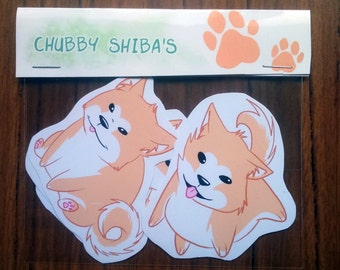 Chubby Shiba Inu's - 4 Sticker Pack
