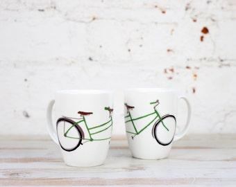 Tandem Bike China Mug