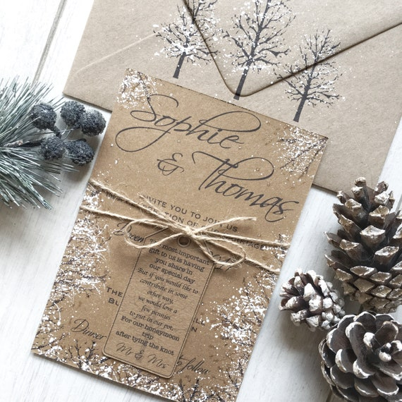 Invitation Ideas For Wedding: Winter Wedding Invitations Handmade Winter Wedding