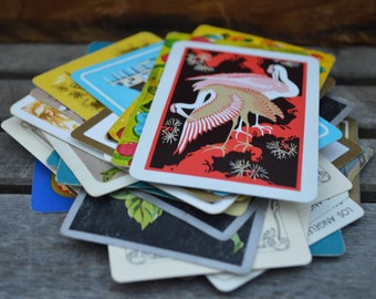 Vintage Playing Card Lot (20) game cards, deck of cards, canasta, poker, colorful cards, vintage card decks, clubs, hearts, diamonds, spades