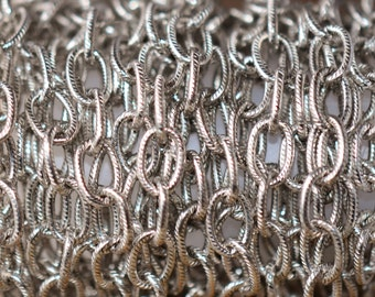1 ft. Large Textured Cable Chain Antique Silver 9 x 6mm -  Nunn Designs Chain