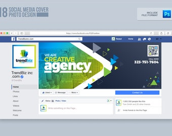 Social Media Cover Package for Corporate Business or Event   Facebook Cover, Twitter Cover and Youtube Channel Art   Instant Download