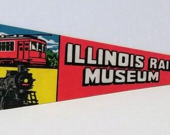 Illinois Railway Museum, Union, Illinois - Vintage Pennant