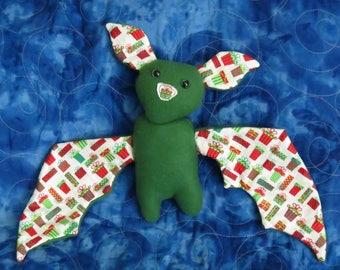 Christmas Bat Plush- Giftbox Pattern