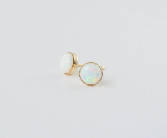 Tiny Opal Studs | Opal Studs Gold | Small Opal Studs | Dainty Opal Studs | Opal Studs | October Birthstone | Opal Earrings | Gift For Her