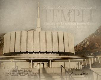 Provo Utah LDS Temple Print 16x20
