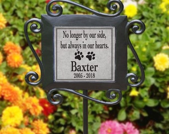 Personalized Pet Memorial Garden Stake, Dog, Cat, Paw Loss of pet Sympathy Gift