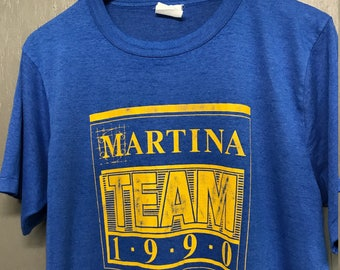 L thin vintage 1990 Team Martina t shirt * McBride ?