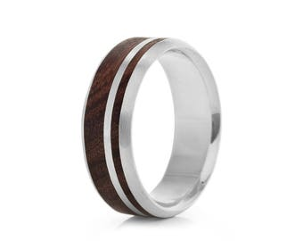 Asymmetric Dual Oval - wood ring UK