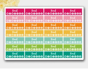Book of the Week, Reading Tracker, Reading Sticker for HAPPY PLANNER # 01