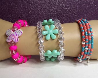 Memory Wire Wrapped Bracelets, Q60