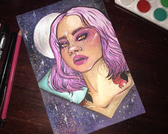 6x9 watercolor study