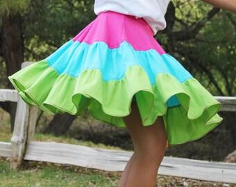 Twirly Skorts Sewing Pattern - Girl's Skort Pattern PDF. GirlsTwirl Skirt. Toddler Pattern. Kid's Clothing Sizes 3 months - 14 years