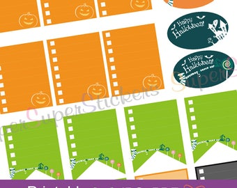 Happy Halloween Stickers Set Back To School To Do List Erin Condren Section Header Life Planner Organize Digital Printable Stickers