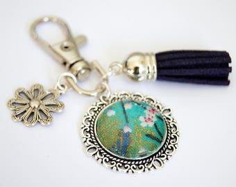 Sakura cherry blossom bag charm key chain