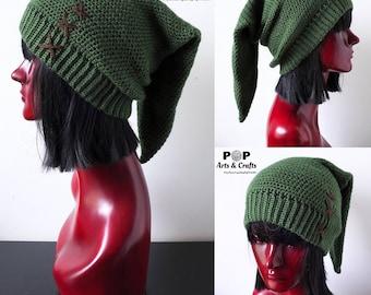 8435134ba35 Elf Hat Geek Gift Slouchy Hat Crochet Hat Link Cosplay