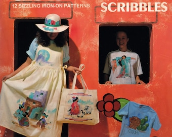 Southwest Scribbles, 12 Sizzling Iron-on Patterns by Pennie Mount, Iron-on Transfers for Fabric Painting, Hot Off the Press #703