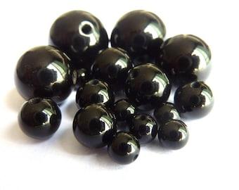 Pearl, onyx Ø 10 mm PCH080 A unit gem stone semi precious