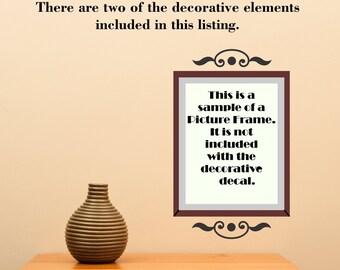 Scroll Element Embellishment 105 Picture Accent Doorway ... Vinyl Wall Decal Sharp Art Deco