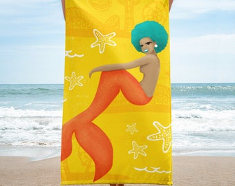 Coney Island Mermaid Beach Towel