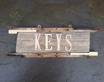 Beautiful handmade reclaimed piano key & driftwood key