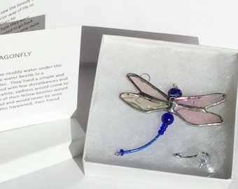 The DRAGONFLY SYMPATHY GIF T and Poem - blue 106