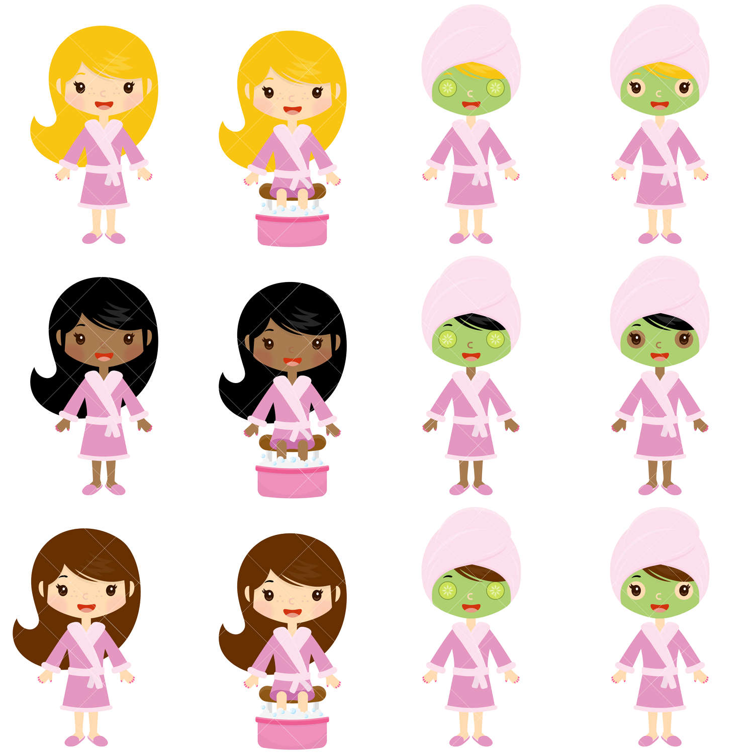 spa girls clipart spa party clip art from clipartisan on etsy studio rh etsystudio com spa clipart free spa clip art images