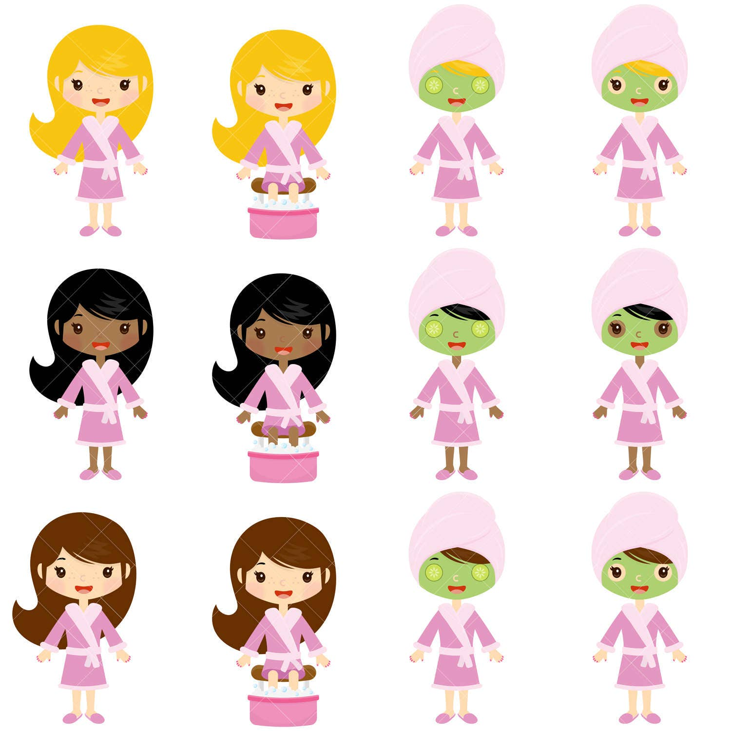 spa girls clipart spa party clip art from clipartisan on etsy studio rh etsystudio com spa clipart graphics spa clipart black and white