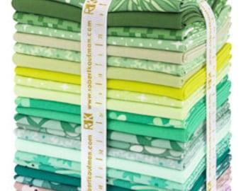PRECUT Terrarium Cool Colorstory Fat Quarter Bundle - Elizabeth Hartman - Robert Kaufman (FQ-1304-26)