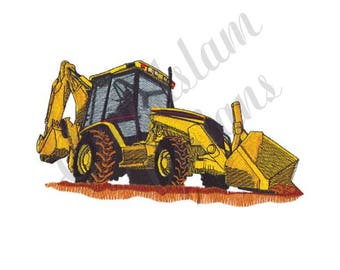 Backhoe Loader - Machine Embroidery Design