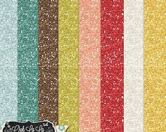 On Sale 50% Off Take Time To Laugh 12x12 Glitter Papers, Digital Scrapbooking Kit