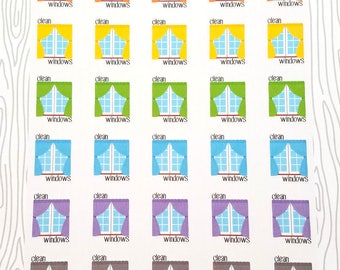 Window Cleaning Reminders (Set of 40) Item #096