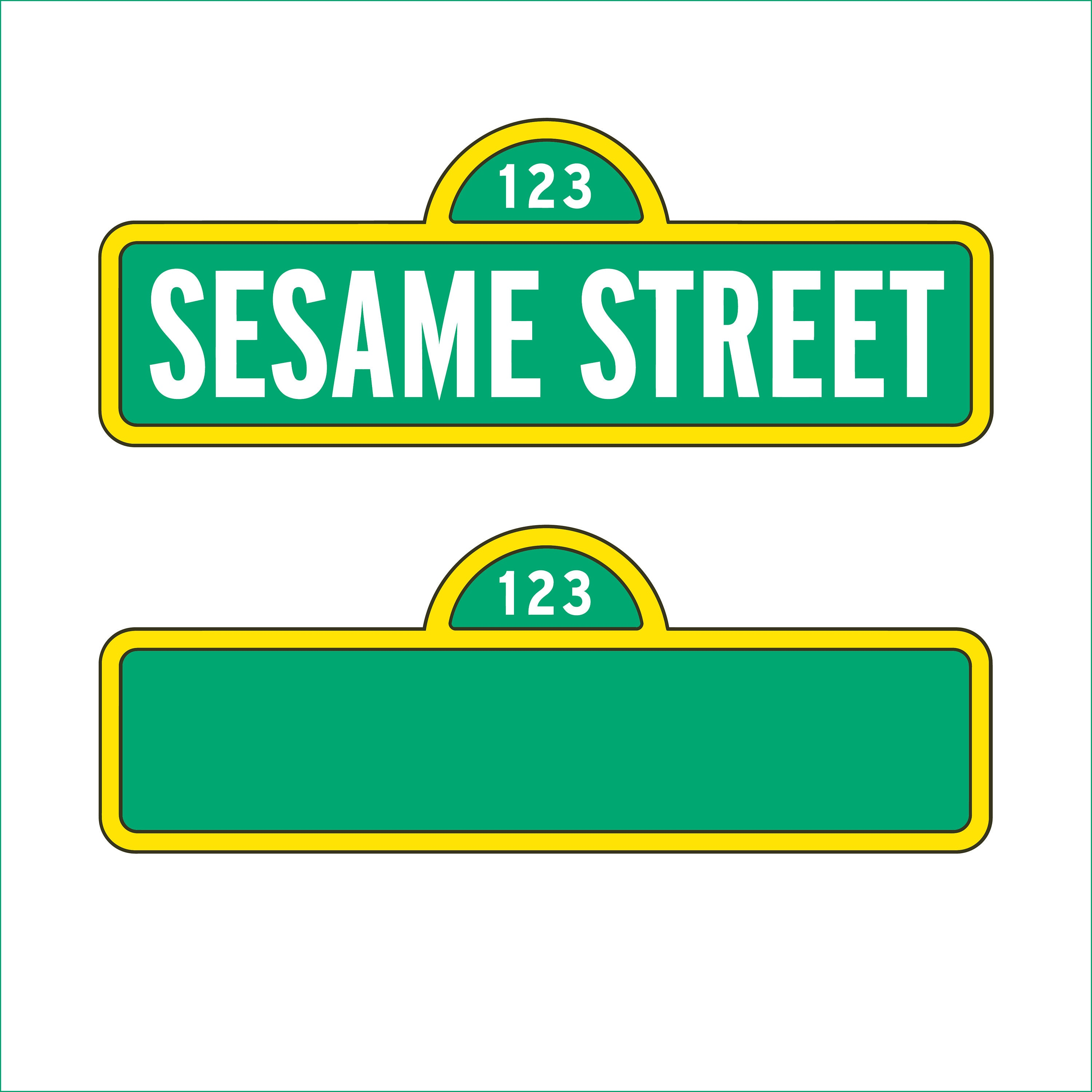Sesame street sign and blank sign only svg dxf eps png zoom pronofoot35fo Choice Image