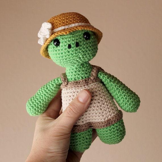 Turtle - Animalius. Crochet Doll, Amigurumi Toy, Crocheting, Made to Order, Animal Crochet, Cute Children Gift, Nursery Doll, Art Crafts