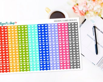 Horizontal Planner Heart Checklists - designed for ERIN CONDREN LIFEPLANNER