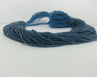 100% Natural AAA London Blue Topaz Faceted Rondelle Beads 2mm