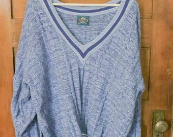 Vintage Blue Slouchy Sweater • Size XL • Janzen • Boyfriend Sweater