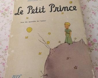 Vintage Book, Le Petit Prince, Antonie De Saint-Exupery, Vintage Children's Books, French Story Book, The Little Prince Collectible Books