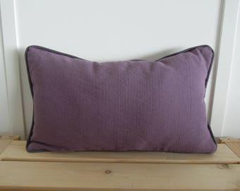 Violett Kissen-Abdeckungen, 12 x 20, Lendenkissen, lila und grau Kissenbezüge, Flieder, Lavendel, grau, werfen Kissen, Leinen Kissenbezug