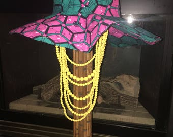 African Print Hat