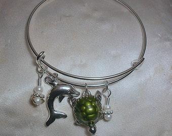 Loggerhead   Turtle Charm Bracelet