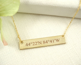 Personalized Gold bar necklace...Engraved name plate jewelry for bridesmaid gift sorority, best friend gift, bridesmaid gift