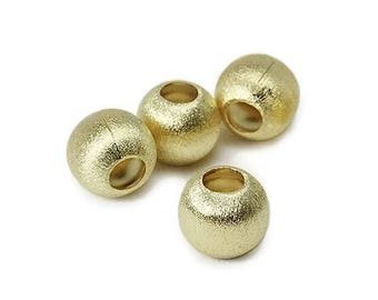 Gold plated round brushed silver Pearl 8 mm SB0046MY PK0316