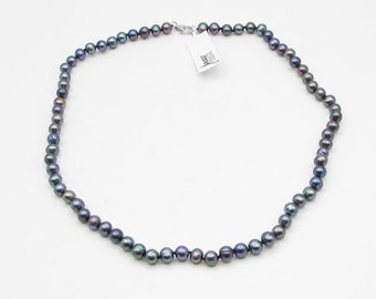 925 sterling silver - tahitian fresh water cultured pearls necklace - n1050