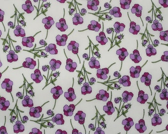 Liberty Fabric Tana Lawn Ros- 9''x26'' Fat Eighth  Purple