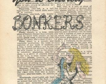 alice in wonderland vintage print your bonkers
